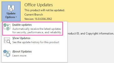 4 Ways To Disable Office 2016 Automatic Updates