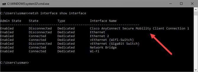 Check VPN Connection Status From Command Line In Windows