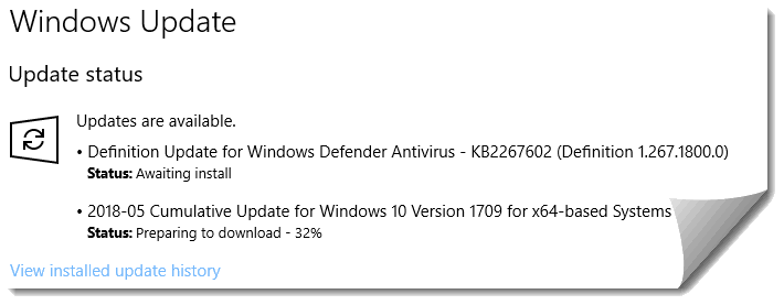 Downloading KB4103714 cumulative update for Windows 10 Version 1709